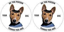 JACK RUSSELL STICKER SPOC STAR TREK BE THE PERSON YOUR DOG THINKS YOU ARE PAIR