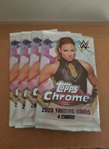 2020 Topps Chrome WWE Hobby Packs Sealed x4