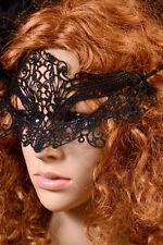 Nouveau femme noir hollow-out dentelle danse mascarade dentelle bal halloween costume