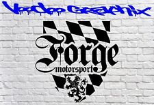 Forge Motorsport Sticker Car DECAL AUDI JDM BMW Vinyl Sponsor