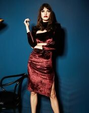 Agent Provocateur RUTH ZIP DRESS in RED VELVET - UK Size 12/ US Size 8 - BNWT