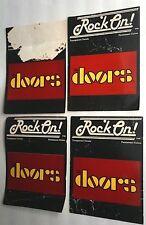 1981 Rock On! Vintage Retro The Doors Four (4) Rare Window Unused Sticker Lot