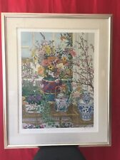 "JOHN POWELL ""Cherry Blossoms"" Serigraph Signed and Numbered Art Work"