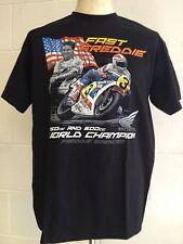 """Freddie Spencer """"Fast Freddie"""" 250cc Y 500cc Campeón del Mundo T-shirt - M Mediano"""