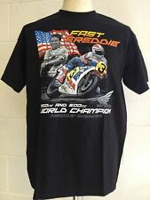"Freddie Spencer ""FAST FREDDIE"" 250cc & 500cc World Champion T-SHIRT - X-LARGE"