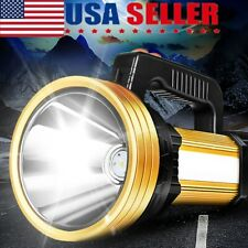 Handheld Spotlight Portable USB Rechargeable LED Searchlight Lantern Flashlight