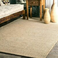 nuLOOM Solid & Striped Hand Woven Wisniewski Area Rug in Beige