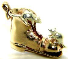 9ct 9carat Yellow Gold Boot & Mice Charm / Pendant