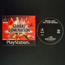 GLOBAL DOMINATION PlayStation UK PAL English・♔・BLOCKBUSTER RENTAL complete PS1