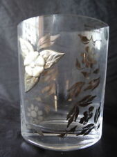 Art Deco Silver Crystal Glass