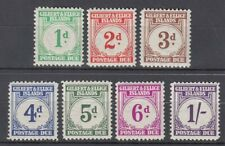 GILBERT AND ELLICE ISLANDS 1940 POSTAGE DUES SHORT SET TO 1/- LHM (ID:G3155)