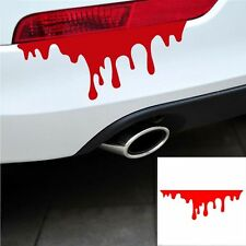2Pcs Graphics Zombie Car Sticker Drip Bleeding Red Blood Auto Decal Reflective