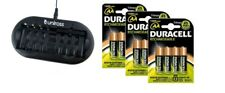 UNiROSS 8 Position  FAST AA/AAA BATTERY CHARGER & 12 x AA DURACELL BATTERIES