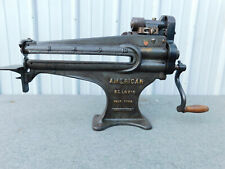 vintage American leather skiver & cutter machine tool from old shop