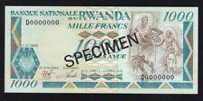 RWANDA ------ 1000  FRANCS  1988 ----- SPECIMEN ----- UNC ----