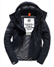 Mens Superdry Quilted Hooded Polar Windcheater Coat Jacket rrp £80