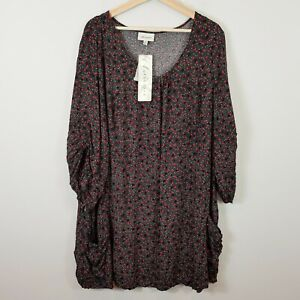 [ AUTOGRAPH ] Womens 3/4 Sleeve Star Print Tunic Top NEW + TAGS   | Size 22