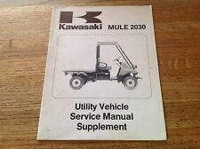 OEM Kawasaki Mule 2030 KAF540-E1 Service Manual Supplement  99924-1145-51