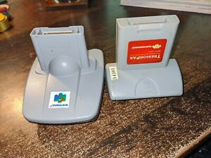 Nintendo 64 Transfer Pack And Tremor Pak Plus Untested