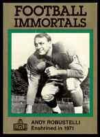 1985 Hall of Fame Set #104 Andy Robustelli NICE GREEN New York Giants / LA Rams