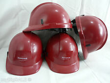 EMS EMT Helmet Morning Pride Fire Red Hard Hat Honeywell First Responder Ratchet