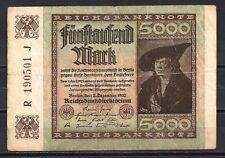 Allemagne  - Germany billet de 50000 mark (1) pick 81 2 décembre 1922 Very Fine