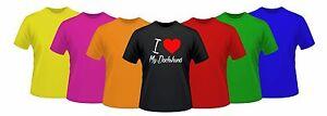 I Love My Dachshund tshirt - Sausage Dog - doxie - Weiner - Custom Gift