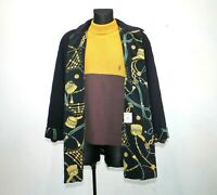 Womens Vintage BASLER Germany Blue Wool Quilted Jacket Coat Country EU 42 UK 16