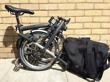 Brompton S-Type S6L Graphite 6 Speed Folding Bike Cycle - Woldwide Shipping