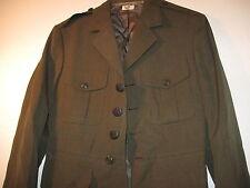 GENUINE USMC MARINE CORPS POLY WOOL GREEN GABARDINE COAT SIZE 38 R 1990 15-F
