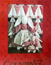 Primitive Bunny Rabbit Pillow Ornie Paper Pattern #318