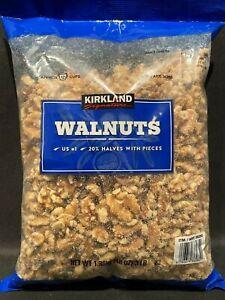 Kirkland Signature Shelled Walnuts 48oz Bag Halves & Pieces US #1 Quality 3 LB