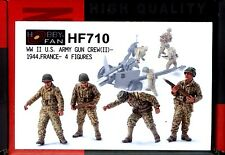 Hobby Fan 1/35 Hf-710 Wwii Us Army Gun Crew (Ii) (France, 1944) - 4 Figures
