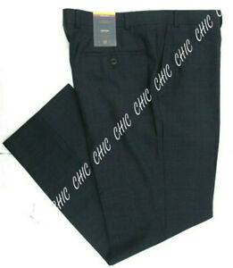 M&S Mens Luxury Collection Pure New Wool Flat Front Tailored Fit Trousers Pants