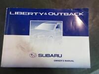 SUBARU LIBERTY OWNERS HANDBOOK 4TH GEN, 09/03-09/09 03 04 05 06 07 08 09