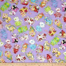 Loralie Designs Fabric - Calico Cats Toss Purple 692-199 - Cotton YARD