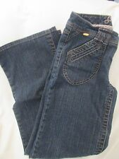 "Ladies ""Sean John"" Size 9 (W31 X L31), Blue, Wide Leg, Low Rise, Stretch, Jeans"