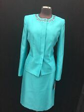 KASPER  SKIRT SUIT/LINED/SIZE 16W/NEW WITH TAG/RETAIL$280/PLUS SIZE SUIT