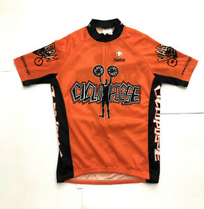 VINTAGE Nalini Cicloposse Tours orange/black cycling jersey men's M ITALY MADE