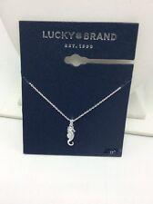 Lucky Brand Silver Tone tiny Seahorse Necklace Uk65