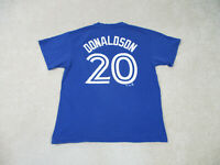 Majestic Toronto Blue Jays Shirt Adult Large Blue Baseball Josh Donaldson Mens *