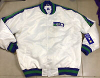NWT Seattle Seahawks STARTER 2XL White satin jacket varsity bomber coat jersey
