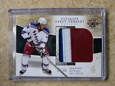 09-10 Ultimate Debut Threads Patch RC Rookie MICHAEL DEL ZOTTO /35