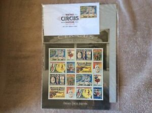 World Vintage Famous Circus 1st Day Posters of Issue Stamps