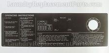 BROWN GEN 4 SIGN PANEL FOR WASCOMAT MACHINES  W74 W124 W184 W244 PART# 452501