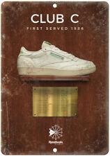 "1986 Reebok Classic Club C Vintage Ad 10"" X 7"" Reproduction Metal Sign ZE90"