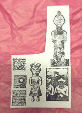 Gods Goddess statue rubber stamp lot exotic Ancient religion relics images unm