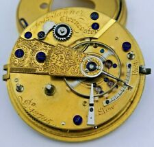 Joseph Tanner Cirencester High Quality Fusee Pocket Watch Movement Working (P54)