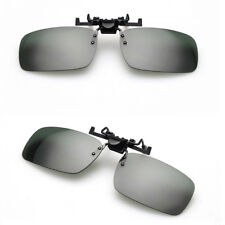 Modish Day Night Vision Flip-up Clip-on Lens Driving Glasses Sunglasses Smart