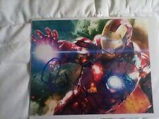 Robert Downey jr as Iron Man an Incredible Battle Pose Autographed 8 X 10 Photo